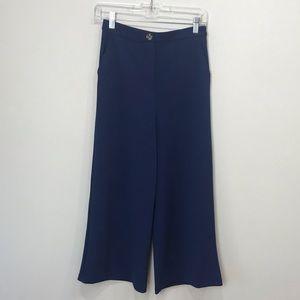 Good Luck Gem NEW Navy wide leg crop pants